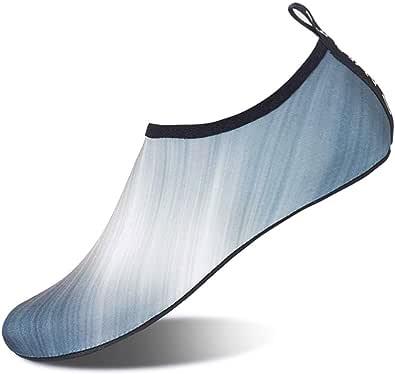 WOWEI Scarpe da Immersione a Piedi Nudi Uomo Donna Quick-Dry Slip-On Traspirante Scarpette da Bagno Scarpe da Sport Acquatici per Spiaggia Swim Surf Yoga 28-45 EU