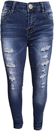 GUBA Mädchen Skinny Jeans Jeans Ripped Stretch Jeggings Designer Hosen Fashion Pants