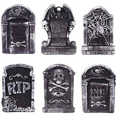 elegantstunning Halloween Schaumstoff Grabstein Grisly Requisiten für Haunted House Party Dekoration (Halloween-spinnennetze Uk)