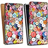 Sony Xperia Z1 Sacoche Housse de Protection Walletcase Bookstyle Boutons Coudre couleurs