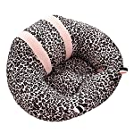 Sundlight Baby Sofa, Baby Support Seat Sofa Plush and PP Cotton Animal Pillow Protector Cushion Sitting Sofa for 0-2 Year Old Baby