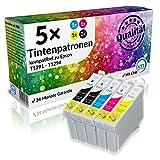 N.T.T.® 5 Stück XL Tintenpatronen für Epson Stylus (2x T1291 , 1x T1292 , 1x T1293 , 1x T1294) mit Chip;
