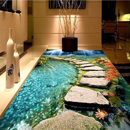 Mznm 3D-Stone Öl Gemälde tragen Wasserdicht PVC 3D Badezimmer Schlafzimmer Erdgeschoss Benutzerdefinierte großen Fresko Stock einfügen Papel De Parede (Große Hölzerne Stöcke)