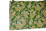 Unbekannt Badematte, Schaumstoff, PVC, hygienisch, schnelltrocknend, Rutschfest, 65 x 200 cm, Grün & Dschungel-Blatt