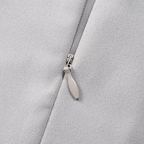 KoJooin Damen Elegant Kleider Spitzenkleid Ohne Arm Cocktailkleid ... 761508fa86