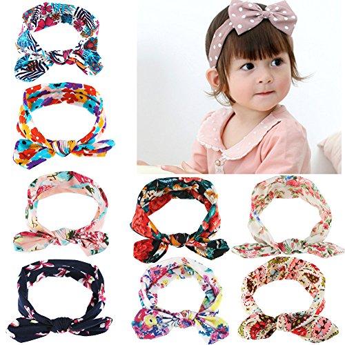 meownr-8-pezzi-di-fascia-fasce-per-capelli-bimba-di-retro-bowknot-elastica-orecchi-di-coniglio-color