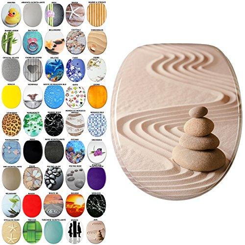 Sedile wc, grande scelta di belli sedili wc da legno robusto e di alta qualità (zen)