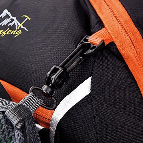 18L Leichter Rucksäcke Fahrradrucksäcke, Schulterrucksack Sport Reittasche Wasserdicht Breathable Basketball Zip Pack mit Regenschutzkappe ORANGE