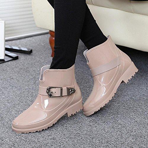 L'autunno e l'inverno Ms. impermeabile moda stivali da pioggia Khaki