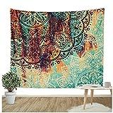 "Dremisland Tapestry Indian Bohemian Mandala Gypsy Hippy Wall Hanging Throw Decorative Badsheet Picnic Beach Sheet Deco Twin Size (L/80""x60"", SEMICIRCLE)"