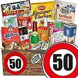 DDR Geschenk XXL | Suessigkeiten Box | Zahl 50 | Geburtstags Geschenk Opa