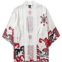 Xmiral Top Camicetta Mens Womens Summer Japanese Five Point Sleeves Kimono Cloak Jacke