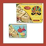 BOGATCHI Bhai Dooj Gifts Combo, Rajasthani Soan Papdi (450g + 250g) + Free Roli Chawal and Greeting Card