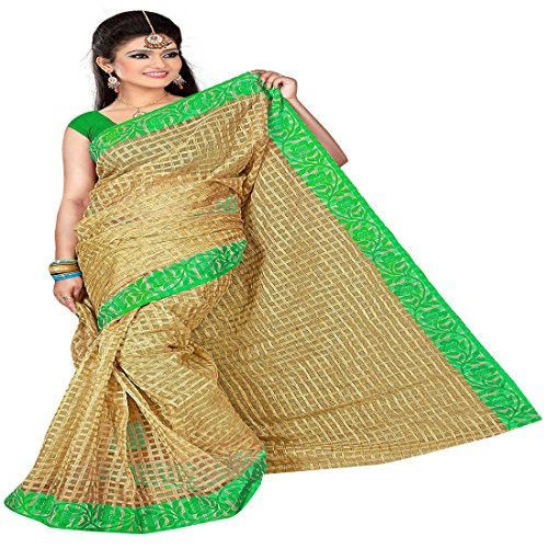Dhandai Fashion Saree With Blouse Piece (Tussar Blue_Blue_Free Size)