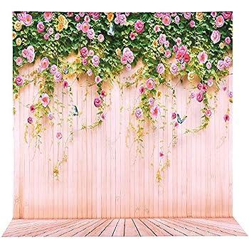 WaW 3x2.5m Rosa Blumen Fotowand Hintergrund Hochzeit