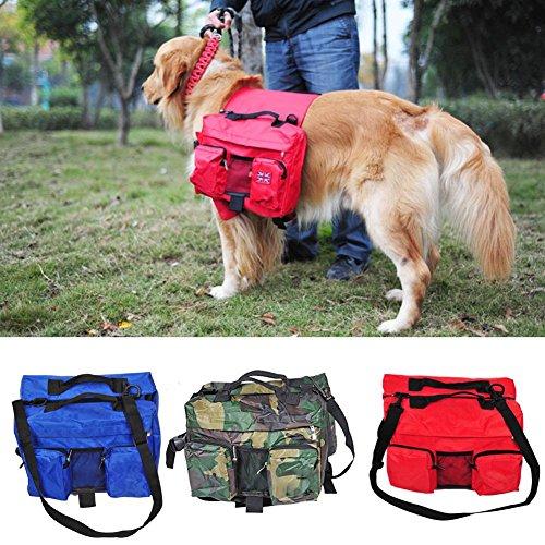 Starter Mochila Para Mascotas- Mochila -grande Para Perros Al Aire Libre-dril De Algodón-rojo Brillante-azul Zafiro-camuflaje