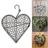 fioriere appese, vasi da fiori a forma di cuore muro di ferro fioriere succulente cestino porta piante rustico con gancio per la decorazione del giardino di casa