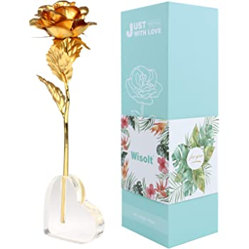 df6ab8524f213a VANRA 24k Gold Rose Foil Flowers 6 Inches Handcrafted Last Forever ...