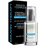 Cristalli liquidi Keratin Complex ai semi di lino - Disciplinante e Anticrespo per tutti i tipi di capelli normali, trattati,
