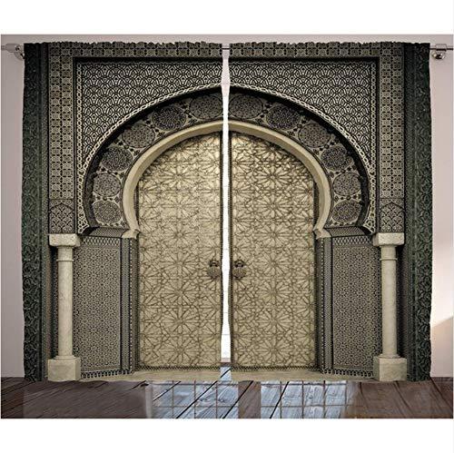 WKJHDFGB Marokkanische Vorhänge Im Alter Von Tor Geometrisches Muster Eingang Design Eingang Architektonischen Orientalischen Stil Wohnzimmer Schlafzimmer Dekor,245X280Cm (Im Dekor Wohnzimmer Orientalischen Stil)
