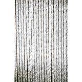 Türvorhang Chenille grau/weiß 90x220cm 64091