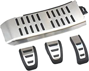 EDELSTAHL SPORT PEDALE PEDALKAPPEN für AUDI S-TRONIC A4 A5 A6 A7 S-Line S4 RS4