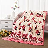 BigFamily Blumendecken wirft Flanell Fleece Dicke warme Decke leichte Bett Sofa