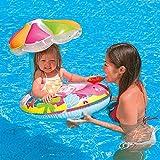 Kinder PVC Blumenform Schwimm ring Kindersitz Schatten 1-3 Jahre altes Baby Wasserspielzeug