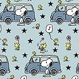 Snoopy Peanuts VW Bus Bully Hellblau Blau - Jersey Biostoff