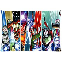 Custom Anime TV Show Kamen Rider Noir Power Rangers idées un côté Imprimé pour 50,8x 76,2cm Taie d'oreiller, Coton, Style 04, Standard
