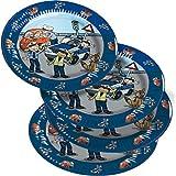 8 Teller * POLIZEI * für Mottoparty und Kindergeburtstag von TIB // Kinder Geburtstag Party Fete Set Jungen Pappteller Partyteller Plates Police
