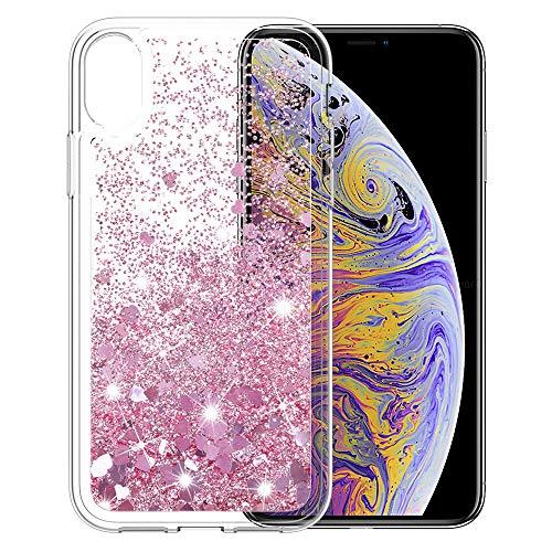 MASCHERI Funda para iPhone XS MAX, Brillante Bling Glitter...
