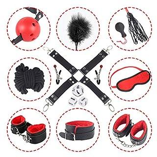 BDSM Bondage Kit 12 Stück unter dem Bett Restraint System Slave Fesseln Set, Sexy Adult Spielzeug Fetisch Fessel-Set für Paare.