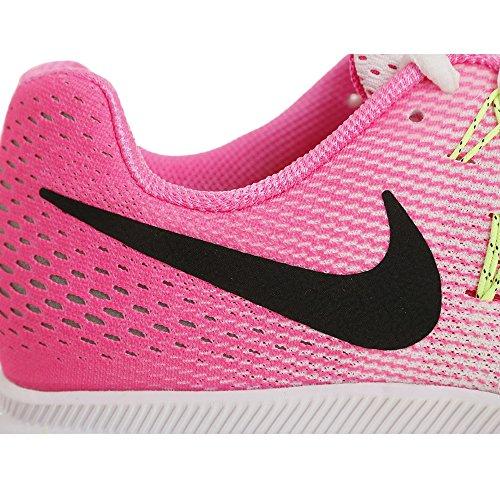 Nike Air Zoom Pegasus 33, Chaussures de Running Compétition Femme Blanc Cassé - Blanco (White / Blk-Pnk Blst-Elctrc Grn)