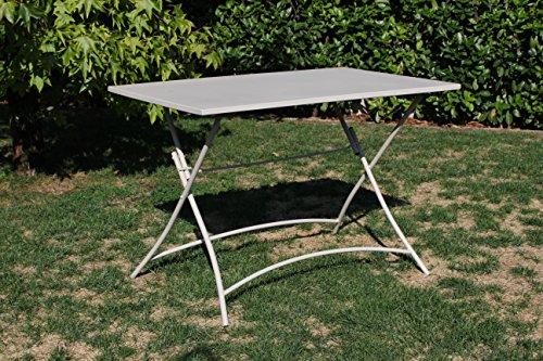 Tavolo In Ferro Da Giardino : Tavolo in ferro da giardino rettangolare bristol tortora