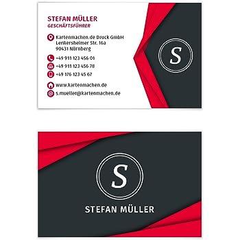 100 X Visitenkarten Individuell Business Karten 300g Qm 85 X