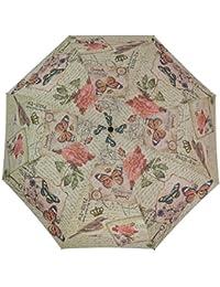Coynes automático abrir cerrar paraguas plegable - mariposa de la vendimia