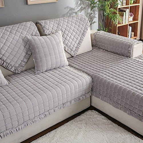 Jiejing copridivano,addensare peluche coprisofà tessuto anti-slittamento quattro stagioni intercambiabile divano copertina lavabile 1pc-b 70x70cm(28x28inch)