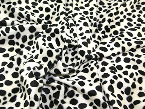 Animal Print Polyester Velboa Stoff Dalmatiner - Meterware + Frei Minerva Crafts Craft Guide