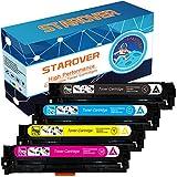 STAROVER Tonerpatronen Kompatibel für drei HP Toner Modelle: Für 131X / 131A CF210X / CF210A CF211A CF212A CF213A passend für HP LaserJet Pro 200 Color M251nw MFP M276nw, Für 128A CE320A CE321A CE322A CE323A passend für HP LaserJet Pro CP1525n CP1525nw CM1415fn CM1415fnw, Für 125A CB540A CB541A CB542A CB543A passend für HP Color LaserJet CP1215 CP1515n CP1518ni CM1312 CM1312nfi, 1 Schwarz + 1 Cyan + 1 Magenta + 1 Gelb