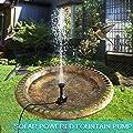 omitium Solar Springbrunnen mit 1.4W Monokristalline Panel Wasserpumpe schwimmender Fontäne Pumpe von omitium bei Du und dein Garten