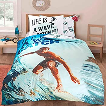Tejidos Jvr Housse De Couette Surf Lit 90 Lit 90 Cm Ameublement Et Decoration Literie Et Linge De Maison