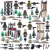 FutureShapers Juego Militar de Escena de Batalla + Juego de Mini Figuras + Juego de Armas para Soldados de policía Equipo de Figuras SWAT, Coincide con el Lego