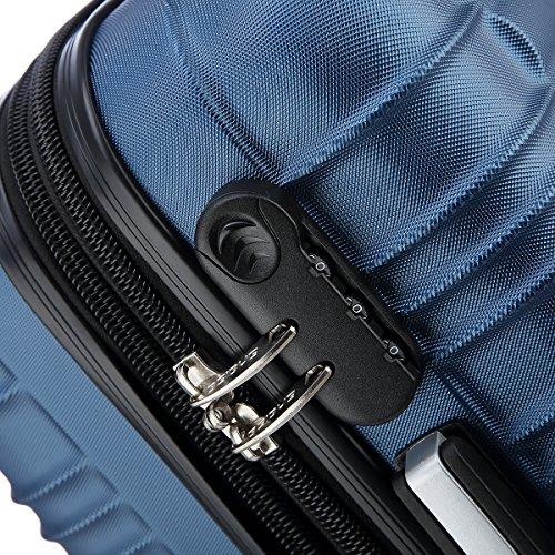 Reisekoffer 2088 Hartschalekoffer Gepäck Koffer Trolley Bordcase Handgepäck M in 14 Farben (Blau) - 2