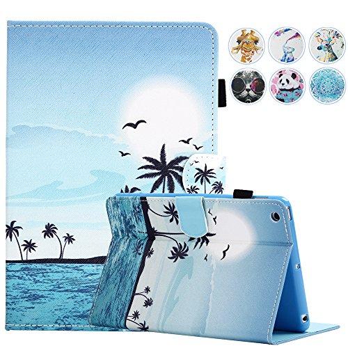 MOKASE iPad Mini Fall, Leder Smart Schutzhülle mit ausklappbarem Ständer Colorful Flip Wallet Schutzhülle für Apple iPad Mini 123(Liebenswürdig, Deer)