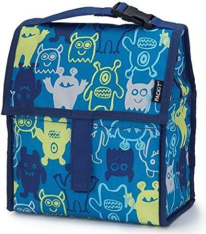 Packit Monsters Tasche porta-alimentos für Mittag, 13x 22x 25cm, Farbe blau (Leinwand Porte)