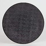 Table Passion -  Assiette plate Vésuvio noir 27 cm (Lot de 6)