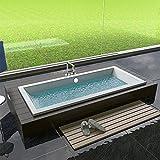 Design Badewanne Rechteck Badewanne 1800 x 800 x 475 mm Badezimmer Bad Standwanne
