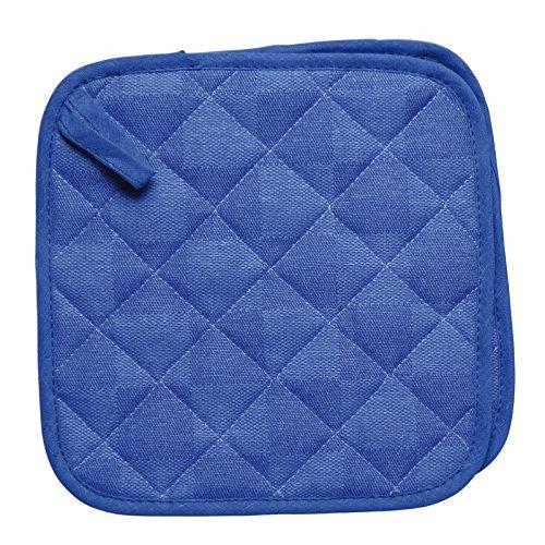 Excelsa Set 2 Presine Quadrate Trapuntate, Blu