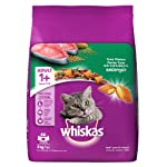 Whiskas Adult (+1 year) Dry Cat Food Food, Tuna Flavour, 3kg Pack